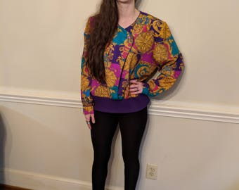 80s Baroque Print Andrea Gayle Blouse