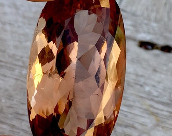 75.20 Carates Very Beautiful Faceted Brown Color Topaz With Beautiful Luster From Pakistan.