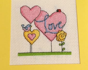 Pink/yellow Love card