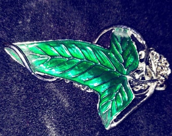Leaf Pendant with Necklace in Elven Style