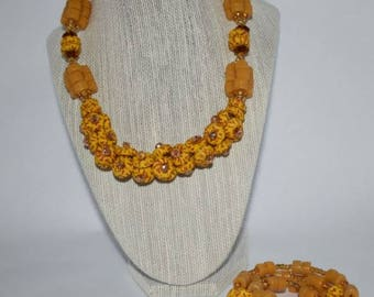Lovely African Beaded Choker Necklace