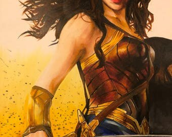 Wonder Woman Gal Gadot custom art print