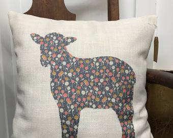Spring Lamb Decorative Pillow