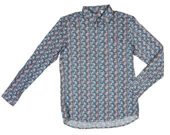 Crazy Print Shirt | Floral Print Shirt Mens | Festival Shirt | Summer Shirt | Hawaiian Shirt | Bright Top | Men's Shirt | Crazy Print