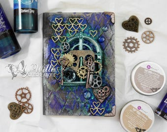 Small Mixed Media notebook, cute gift or useful product