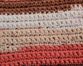 Sherbet Striped 100% Cotton Dishcloth or Washcloth