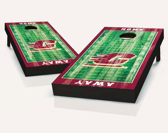 Central Michigan Chippewas Distressed Football Field Cornhole Set with Bags