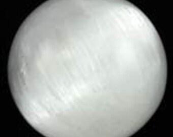 White Selenite crystal ball
