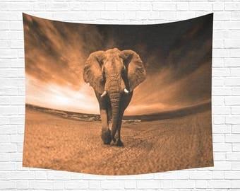 """Elephant Wisdom Wall Tapestry 60""""x 51"""""""