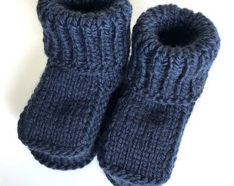 Knitted Kids Booties.