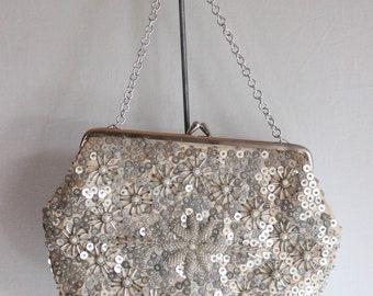 Silk and beads evening bag