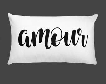 "Amour decorative Pillow - 20""x 12"""