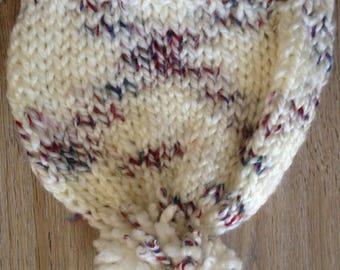 shore knitting-white speckled hat