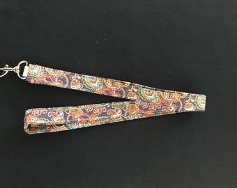 Multicoloured paisley print   lainyard