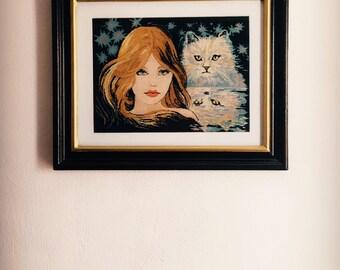 """Handmade tapestry """"Feline """""""