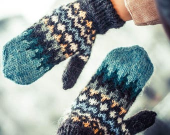 Icelandic mittens Handtak