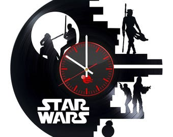 Star Wars Fictional Characters Vinyl Record Wall Clock Wall Decor Home Decor