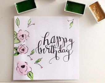 PERSONALISED hand painted cards