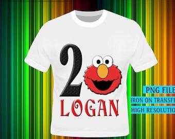 Sesame Street Iron On Transfer, Sesame Street Birthday Shirt DIY. Boy Birthday Shirt DIY, Sesame Street. Digital Files, High Resolution.