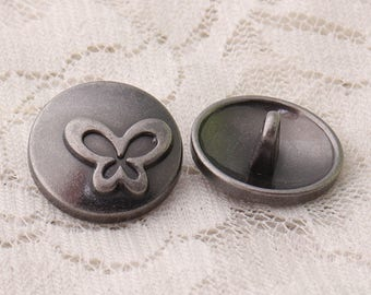 butterfly buttons 10pcs 18*9mm round light black buttons cute buttons clothing buttons metal buttons