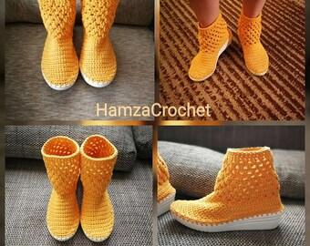 Crochet shoes size: 39 - 25,5cm