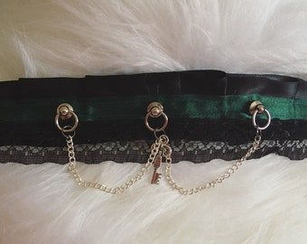 Green and Black Gothic Collar