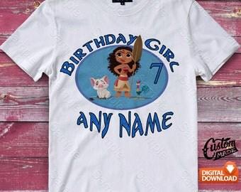 Moana Iron On Transfer, Moana Birthday Shirt DIY, Moana Shirt Designs, Moana Printable, Moana, Personalize, Digital Files