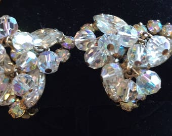 Juliana Vintage Sparkling Clear Crystal and Rhinestone Earrings - Set Completers