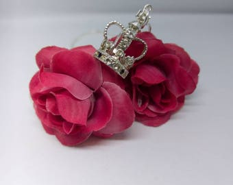 Sterling Silver crown charm necklace