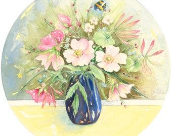 Summer Roses - Hotpress Giclee Print