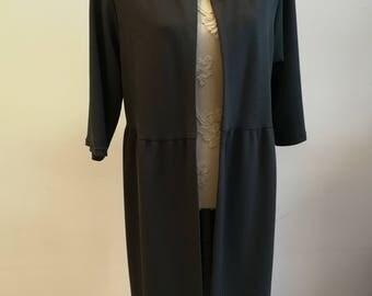long grey handmade women jacket