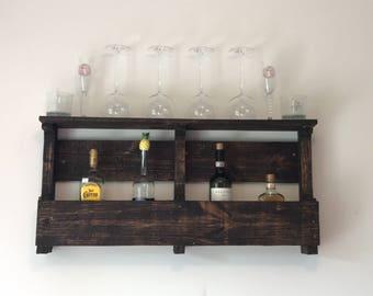 Customizable Pallet Wine Rack