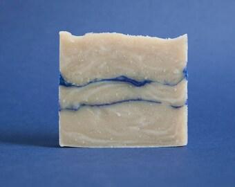 Blue marbled rhassoul SOAP