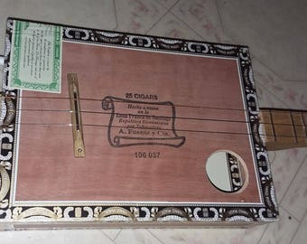 "Cigar Box Guitar ""Strummer"" Stick Dulcimer, ""strum stick"", dulcitar from tinyguitars"