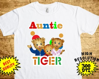 Daniel Tiger AUNTIE, Daniel Tiger Iron On Transfer, Daniel Tiger AUNTIE Printable DIY Shirt Transfer, Digital Files, Instant Download