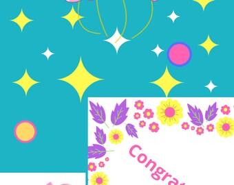 Baby Shower Congratulation Card