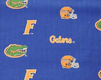"1/2 YD - 44"" University of Florida Gators Cotton Fabric"