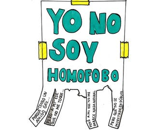 "Sticker ""I'm not homophobic"""