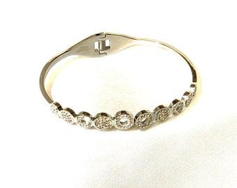 CZ's semiprecious stone silver color designer bracelet