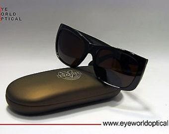VUARNET 087 Black Sunglasses PX5000 dark brown lens
