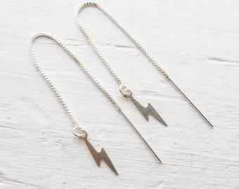 Lightning Threader Earrings