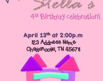 bounce house invite