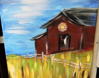 Country living 16x20 custom painting