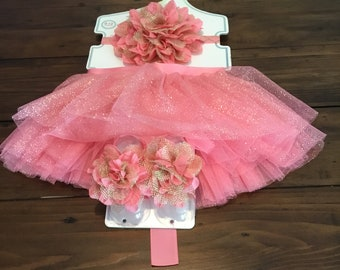 Beautiful tutu set newborn to 12 months