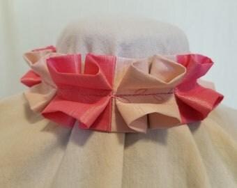 Ruffle Choker - Light and Hot Pink