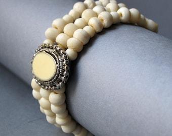 Vintage Art Deco Bovine Bone bracelet