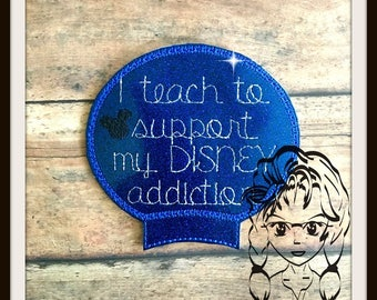 I TeACH to SuPPORT Ear (Add On ~ 1 Pc) Mr Miss Mouse Ears Headband ~ In the Hoop ~ Downloadable DiGiTaL Machine Embroidery Design by Carrie
