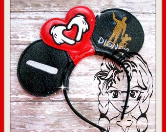 I HEART Hands MAN & MoUSE (3 Piece) Mr Miss Mouse Ears Headband ~ In the Hoop ~ Downloadable DiGiTaL Machine Emb Design by Carrie