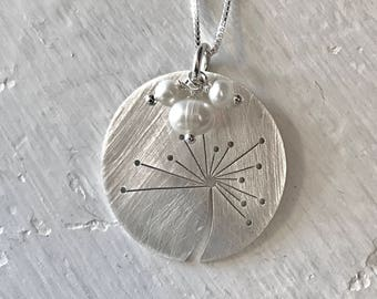 Cut Dandelion in Sterling Silver