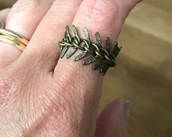 Herringbone Chain Ring Size 7.5 - ALL PROFITS donated to the ACLU